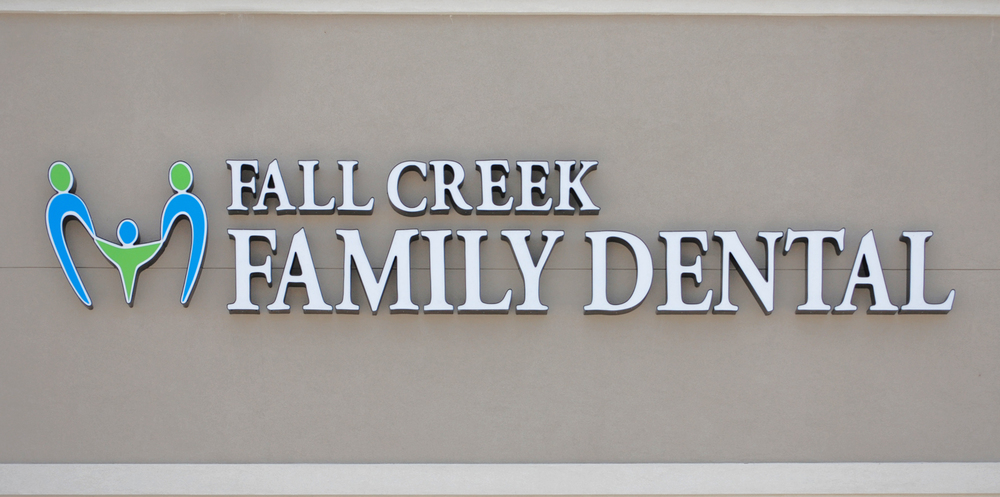 Fall Creek Family Dental Office Sign, Humble Texas
