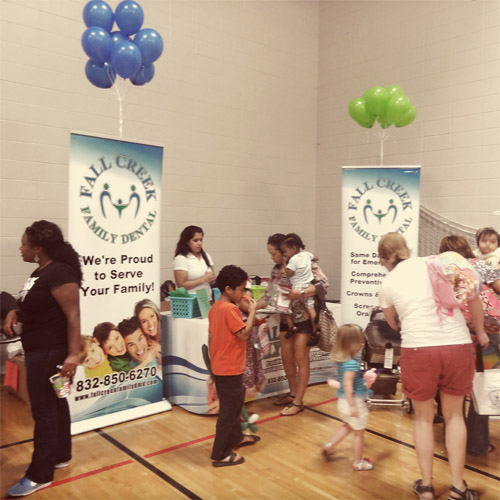 Our Booth at the Healthy Kids Day, Lake Houston YMCA