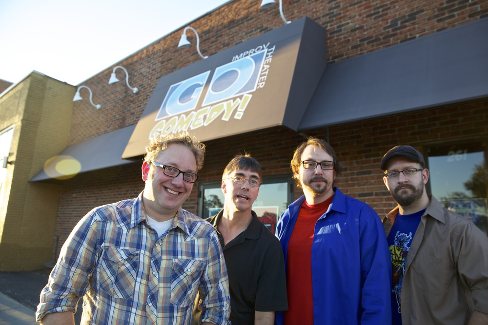 Go Comedy's Owners/Founders Pj Jacokes, Gerald Knight, Chris DiAngelo & Tommy LeRoy (Geddy Lee not pictured) (Geddy Lee is in no way affiliated with Go Comedy!) (Yet.)