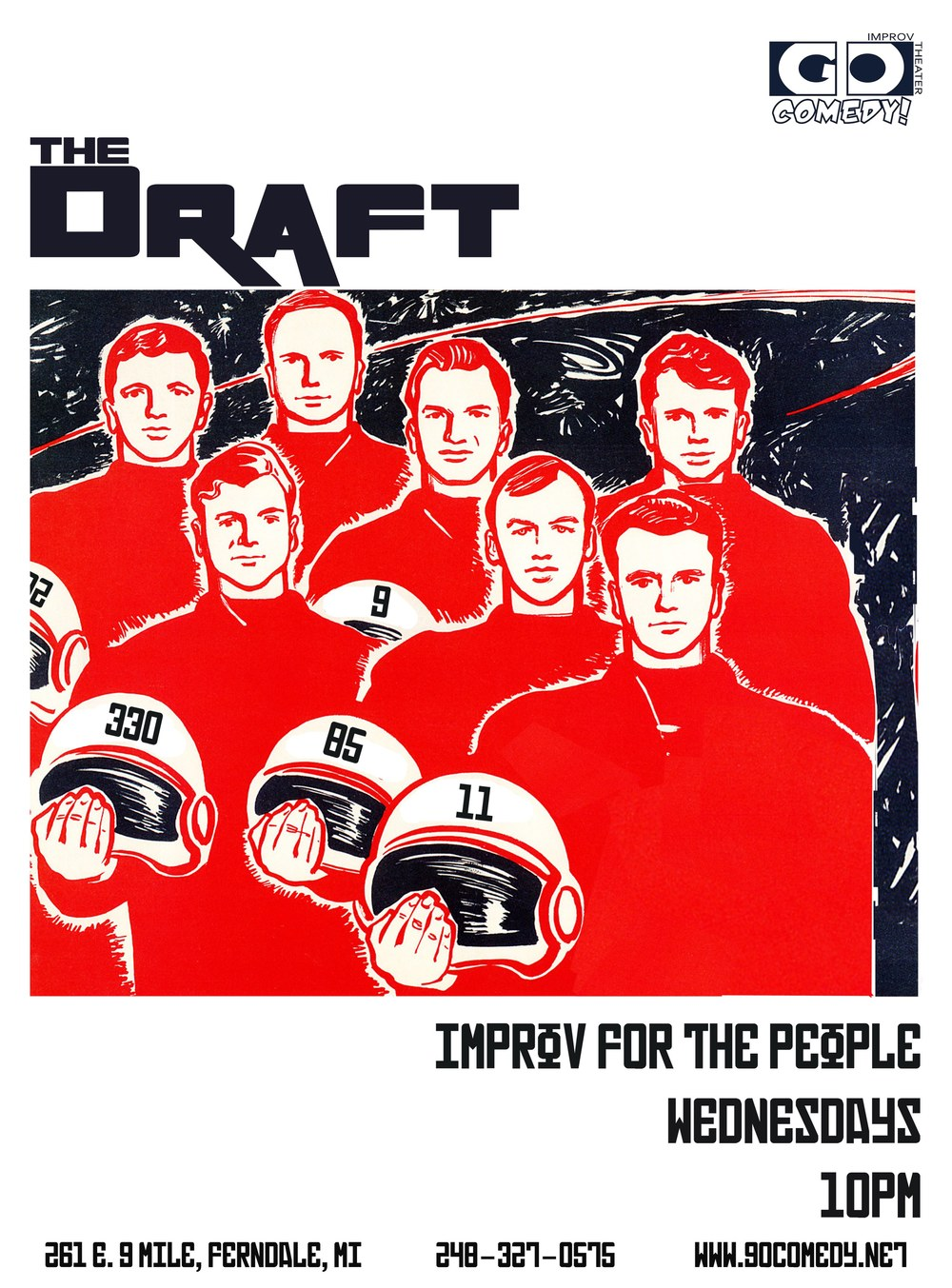 Wednesdays 10pm April 23rd & 29th Improvisers are randomly drafted into threeteams, which will compete in a head to head improv battle. The best team wins! Come out and support your troupes!