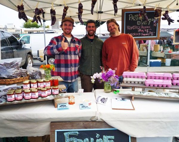 Our first market. Downtown Santa Cruz, 2011.