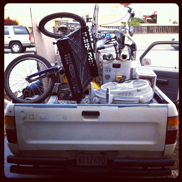 "2 cargo bikes 1/3 of a studio. Cadence Haulrs ""you callr we haulr."" (Taken with  instagram )"