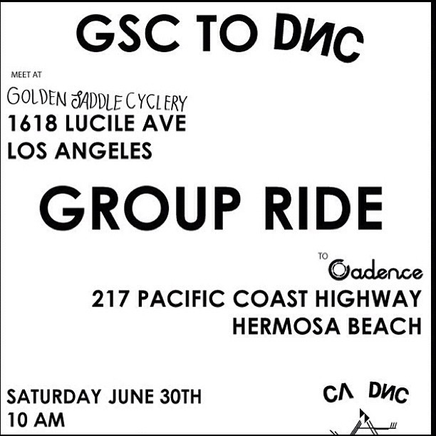 Group ride from Golden saddle cycles to CA DNC opening this sat 10 am. (Taken with Instagram)