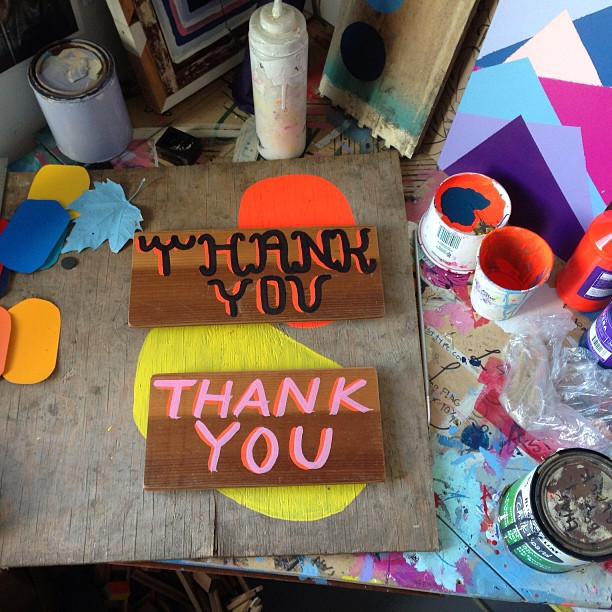 "2 new ""thank you"" signs available today on DKlein.co"