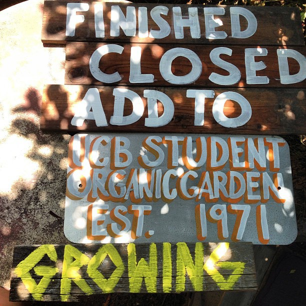 Did a little gardening (signage) over the weekend for SOGA garden.