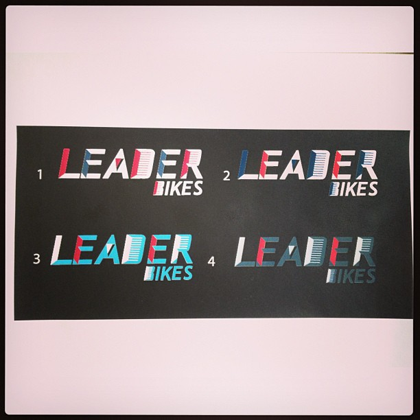 Color proofs for a Graphic // Logo I recently did for @leaderbikeusa .