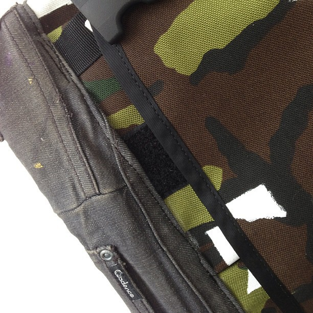 @reloadbags put up all their seam rippers bags online today. Bag I designed is up there custom textile, re claimed cadence denim base plus hidden icons. Available here: reloadbags.gostorego.com