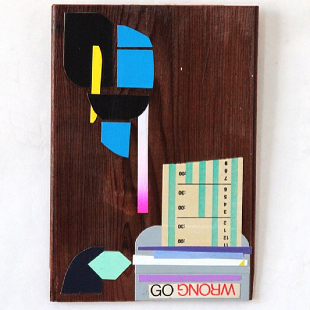 Go wrong paper on wood. #available