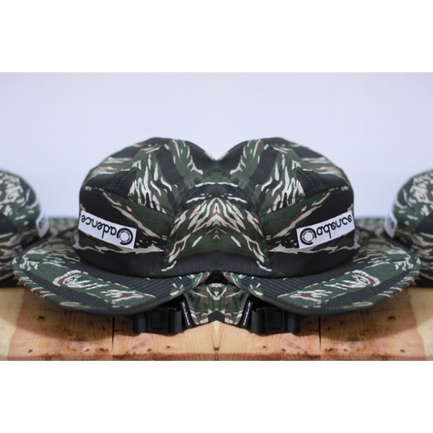 NEW: Omac 5 panel Omac is Camo Backwards. Tiger Camo ripstop 5 panel, Cadence woven at crown..Now live!