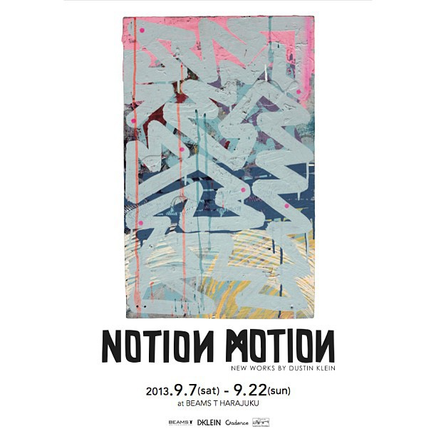 I will be going to Japan next week to work on the installation for a solo show entitled: Notion Motion Sat Sept 7th at Beams T in Harajuku JP.