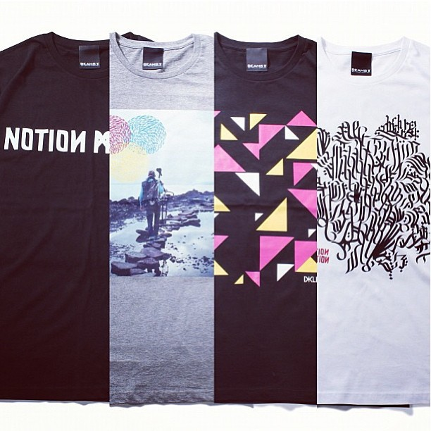 Sneak peek at Dklein for @beams_t. Available at the #notionmotion opening Sept 7th Beams Harajuku Japan.