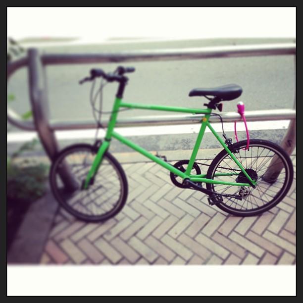 Bike locking Tokyo style.