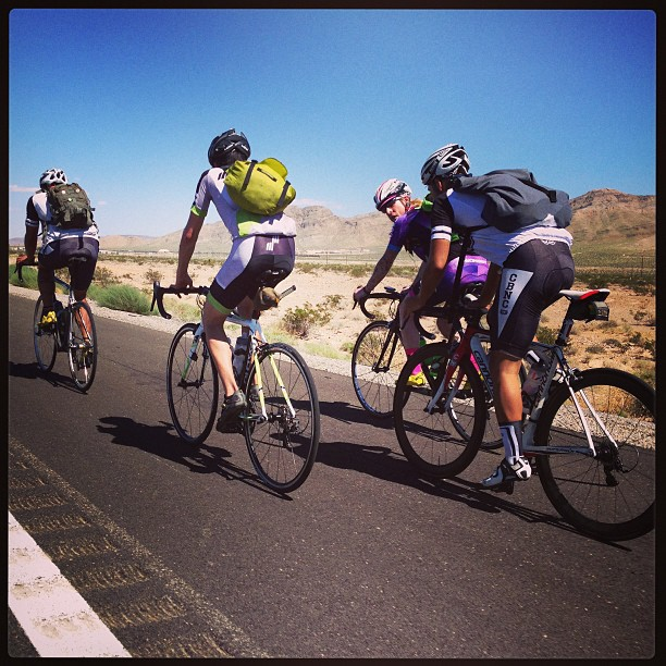 @takeoverla and crew spotted riding from LA to Vegas in the Hot Hot Heat for Ibike.