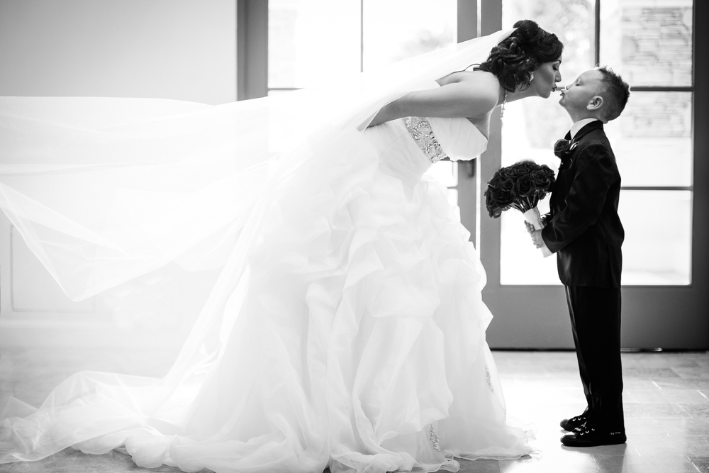 Bride and son, Las vegas wedding