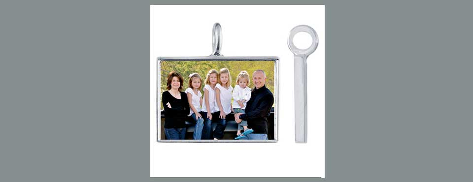 CHM019 Horizontal Rectangle photo pendant