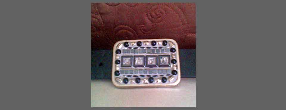 BCK003 Modern Squares Mosaic Buckle