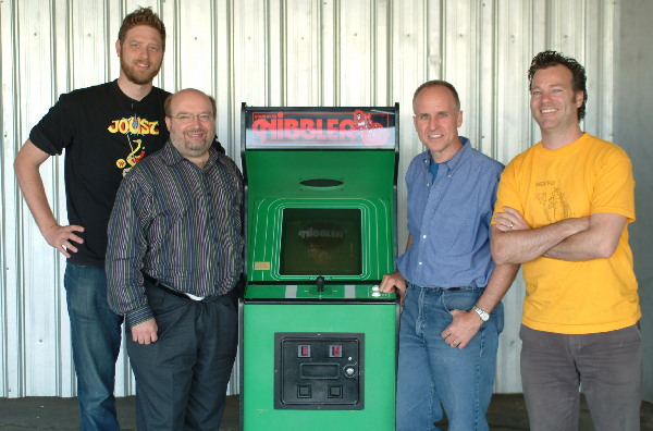 Andrew Seklir & Tim Kinzy with Joe Ulowetz & John Jaugilas,  Nibbler  programmers.