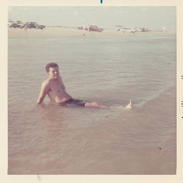Happy 4th of July from the Storyhouse team! Pictured here: Julian Cantu, one of our amazing clients, relaxing in Freeport, Texas in 1979.  #july4th #independenceday #savefamilyphotos #mystoryhouse #polaroid
