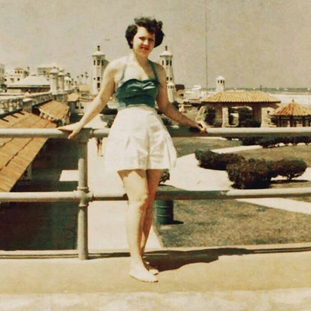 "#Tbt to this beautiful photo from @bubsylyy of her grandmother, a ""lovely and amazingly strong woman...This is her in May,1952 at 21 years old after she graduated from nursing school, she went off with a girlfriend to explore Europe for a few months (before backpacking was cool) and said she came back to the US with a couple of quarters in her pocket."" #throwback #mystoryhouse #savefamilyphotos #oldfamilyphotos"