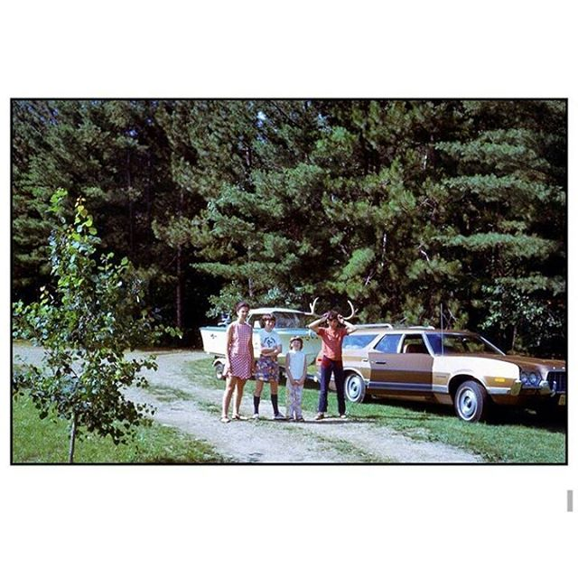 "Summer camping inspiration from @lauralakeaway: ""This photo is from the early 1970s when we were on a camping trip to Lake Christopher in Bryant Pond, Maine. My father had a connection to the area; his grandfather had a farm there, he lived there briefly, and he had cousins in the area. We camped, we rented a cottage, and a few years later dad bought a rental property on the lake. I think it's unbelievably cool that all these years later, my nephew and brother are building a small camp house on the very same lake. The tradition continues."" #mystoryhouse #savefamilyphotos #camping #summertravels"