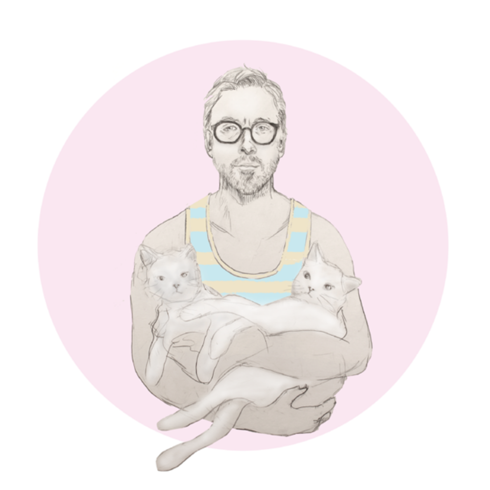 Ryan Gosling Holding Cats