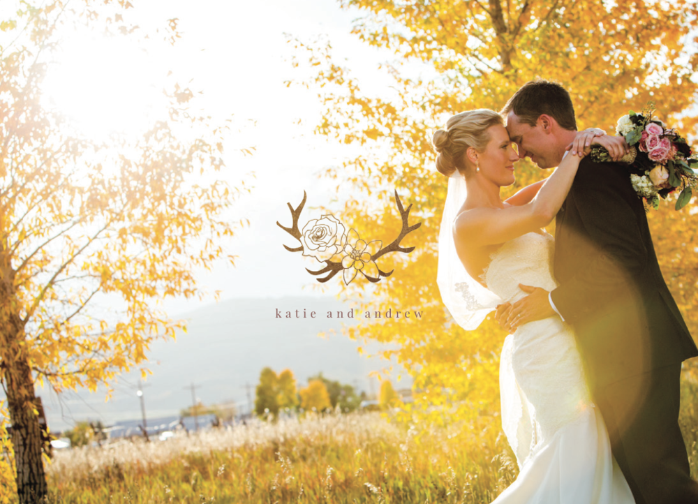 Wedding identity logo example