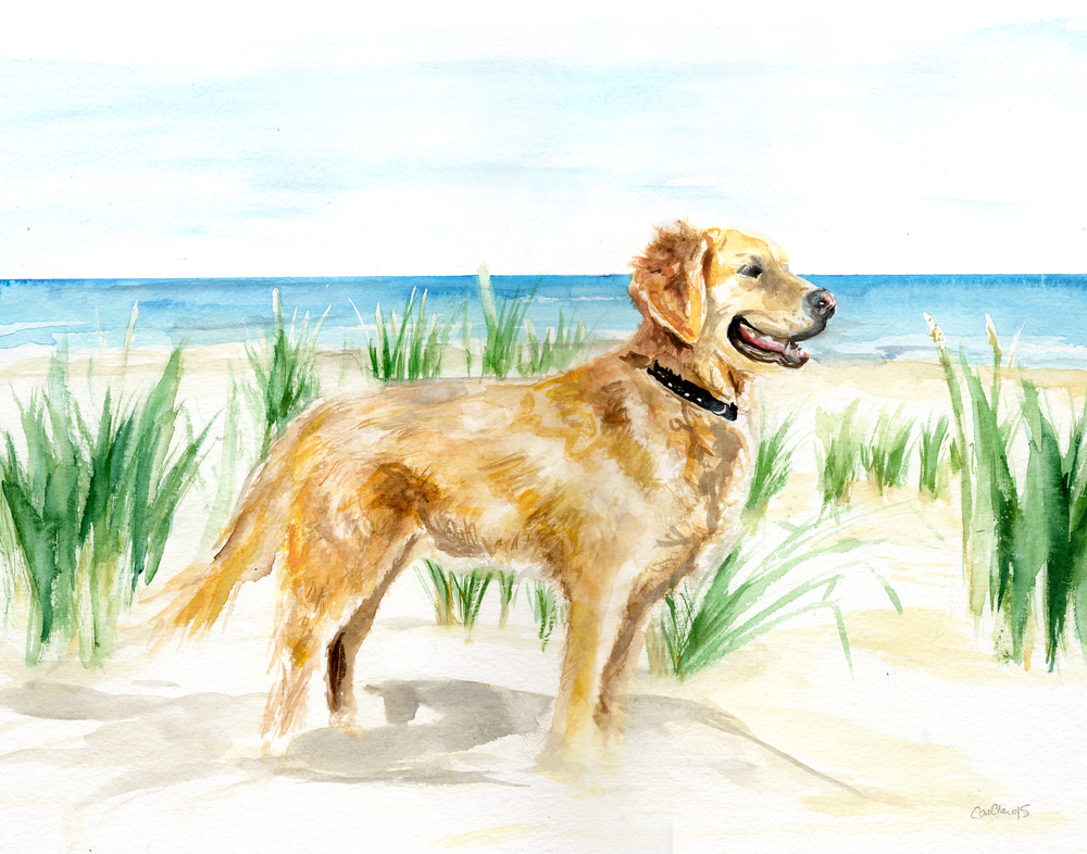 "Custom pet portrait – 14""x11"" watercolor illustration"