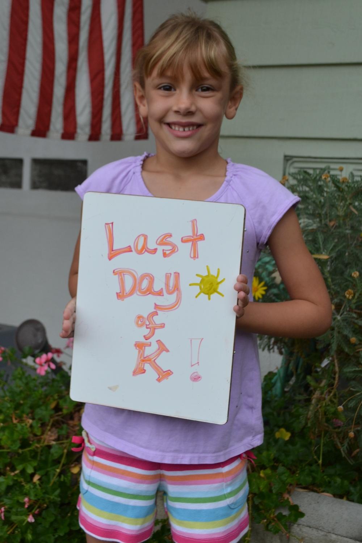 Emily's last day of Kindergarten