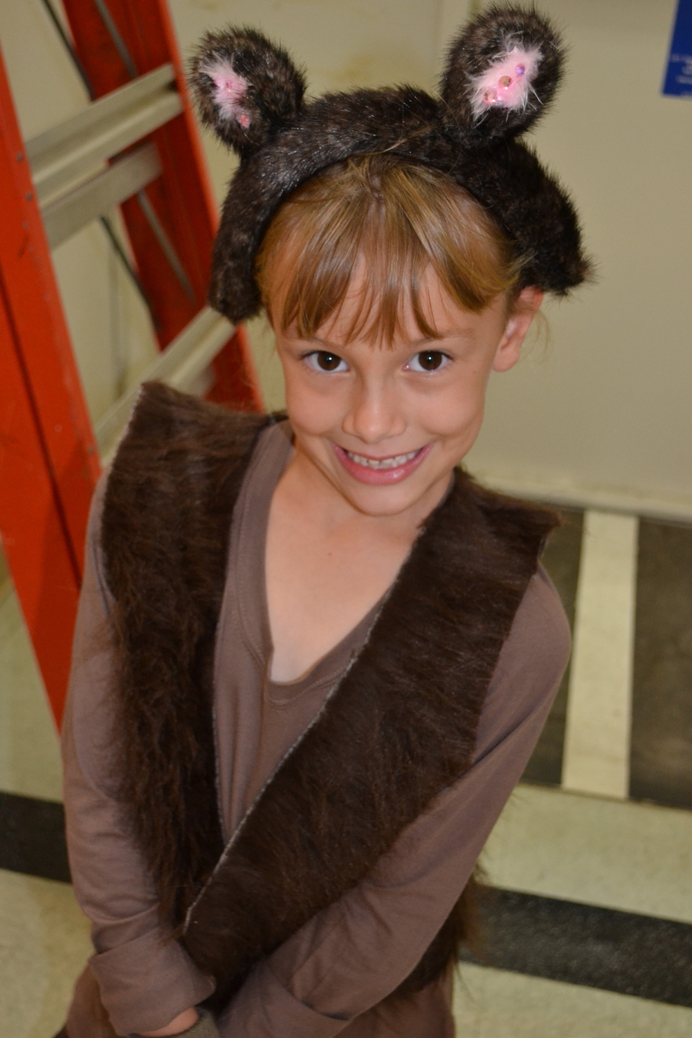 Emily in her Barbaloot costume for the LORAX play