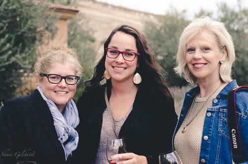 Margot Austin, Florence Van Pelet and Patti Austin at Caliza Winery