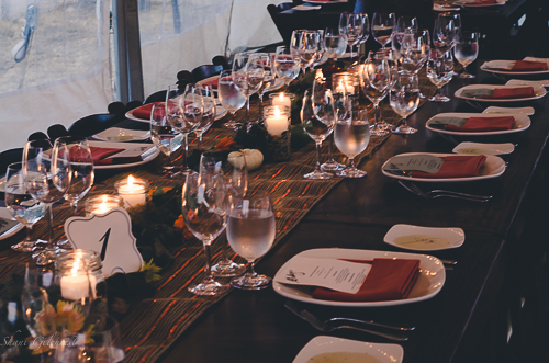 Our wine dinner table.