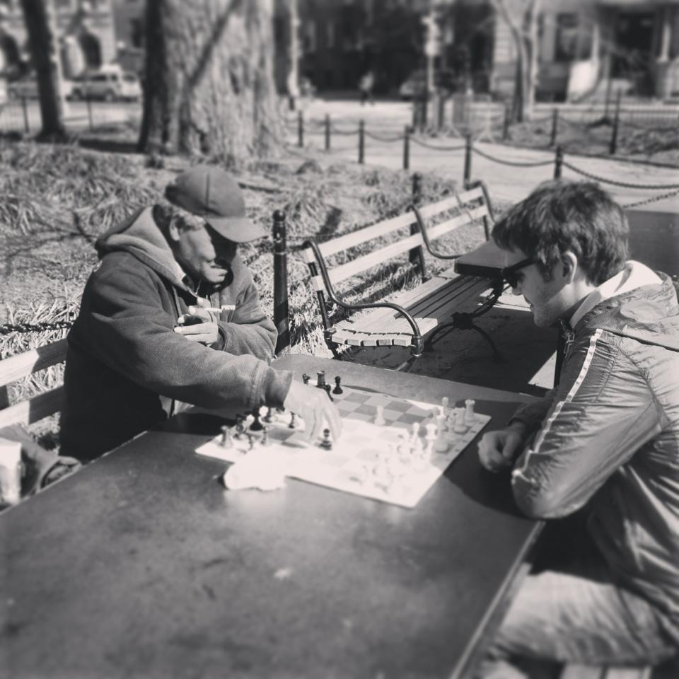 Scruff Lee playing Chess in Washington Park