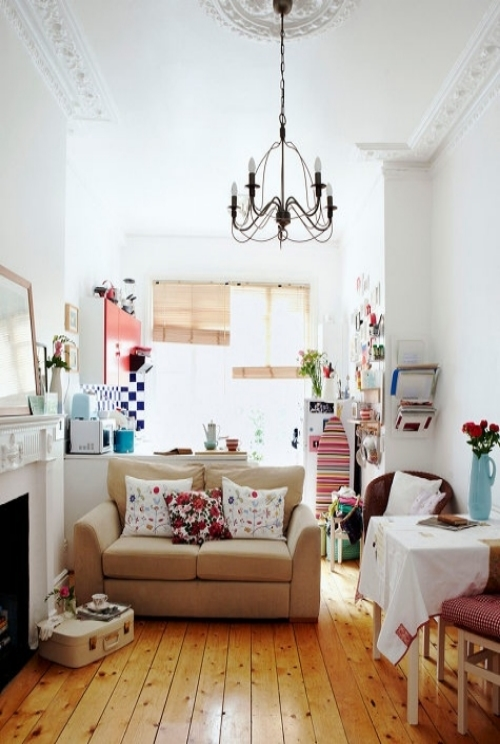 Design Sponge  has inspired me that I can make any size space look amazing with the photos of this little studio! Wow.