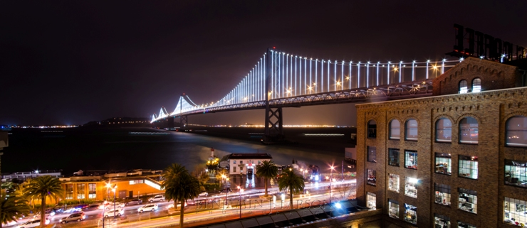 I also dabble in photography in my spare time. This is a picture of the new Bay Lights art installation on the San Francisco-Oakland Bay Bridge taken on March 5th, opening night. I love this City!