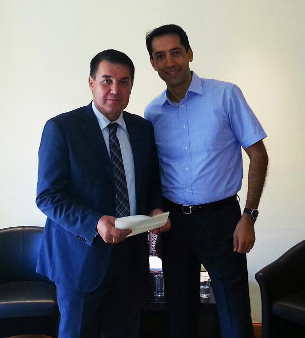 19/9/2013 Με τον Πρέσβη της Δημοκρατίας του Αζερμπαϊτζάν