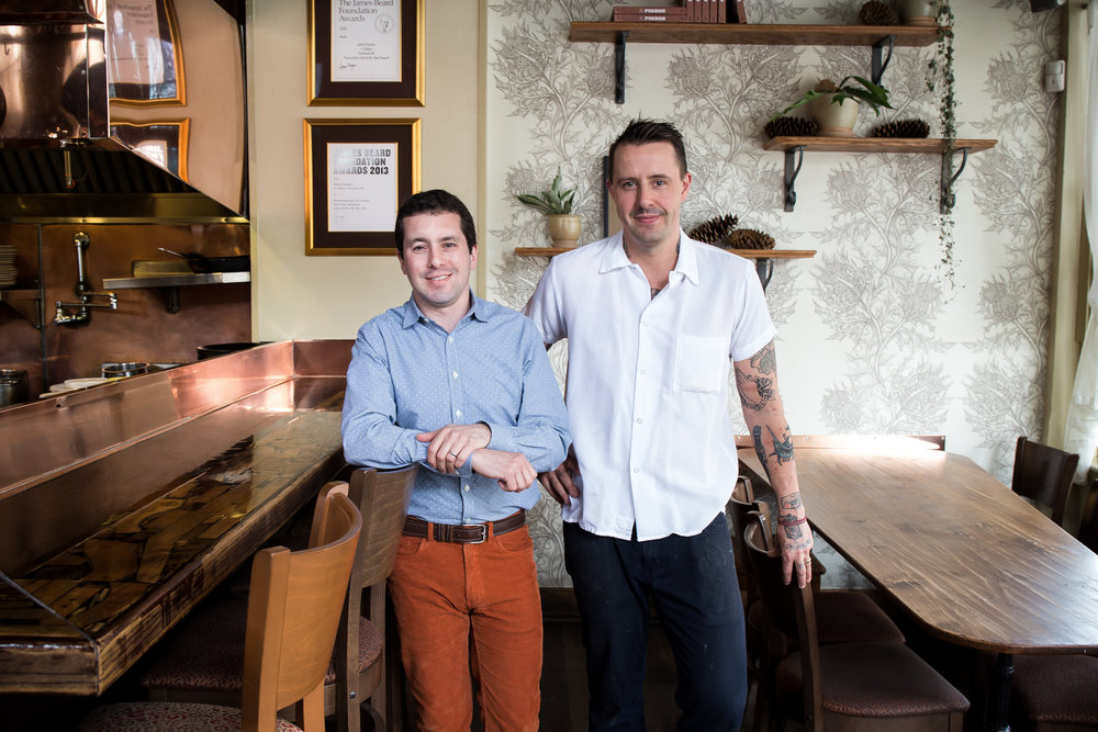 Le Pigeon and Little Bird team, Gabriel Rucker and Andy Fortgang, will open the hotly anticipated  Canard  Spring 2018.