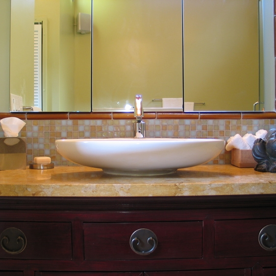 Oakland Montclair Cabin Asian Master Bath
