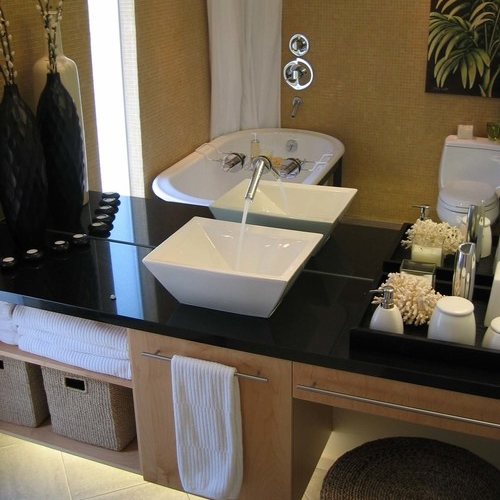 Oakland Montclair Ranch Modern Guest Bath