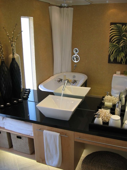 Oakland Montclaire Contemporary Guest Bath
