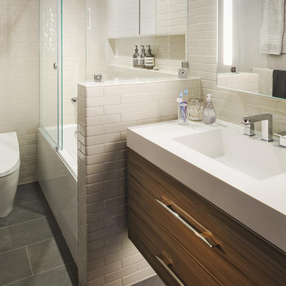 San Francisco Castro Condo Modern Master Bath