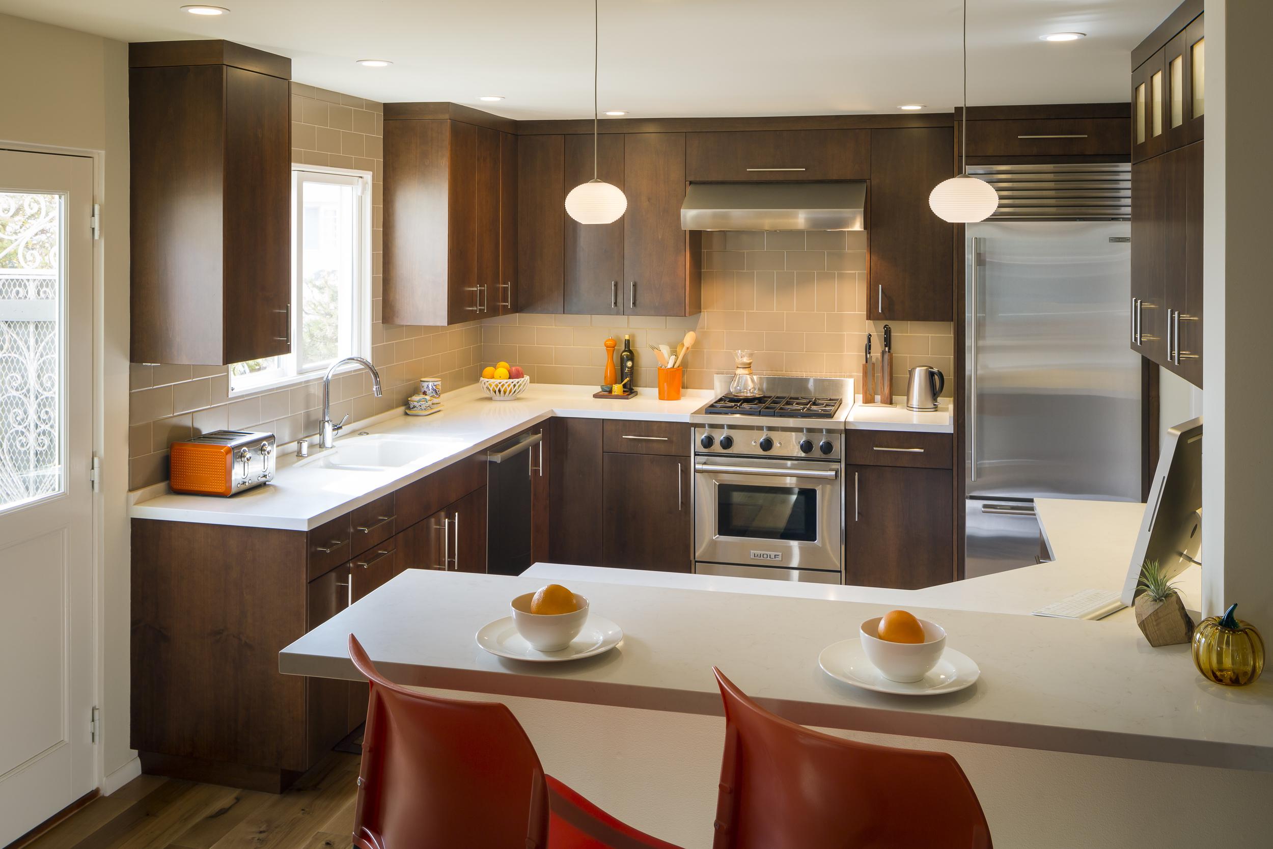 San Francisco Saint Francis Wood Mid Century Modern Kitchen