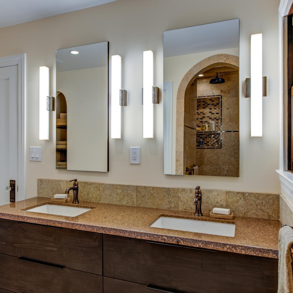 Oakland Mediterranean Master Bathroom w/ Modern Touches
