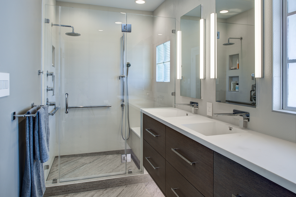 Berkeley Thousand Oaks Modern Master Bathroom Design Set Match