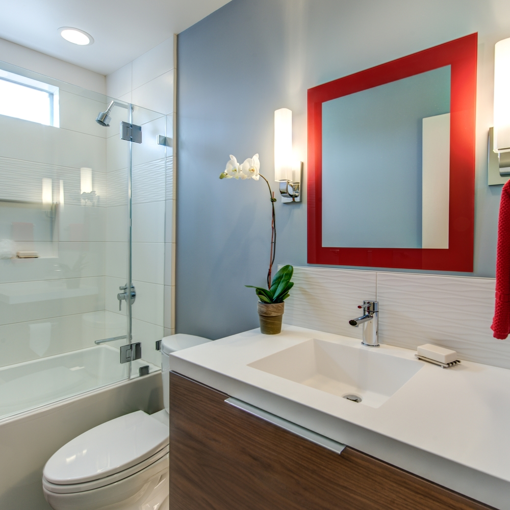 Oakland Grand Lake Modern Guest Bath