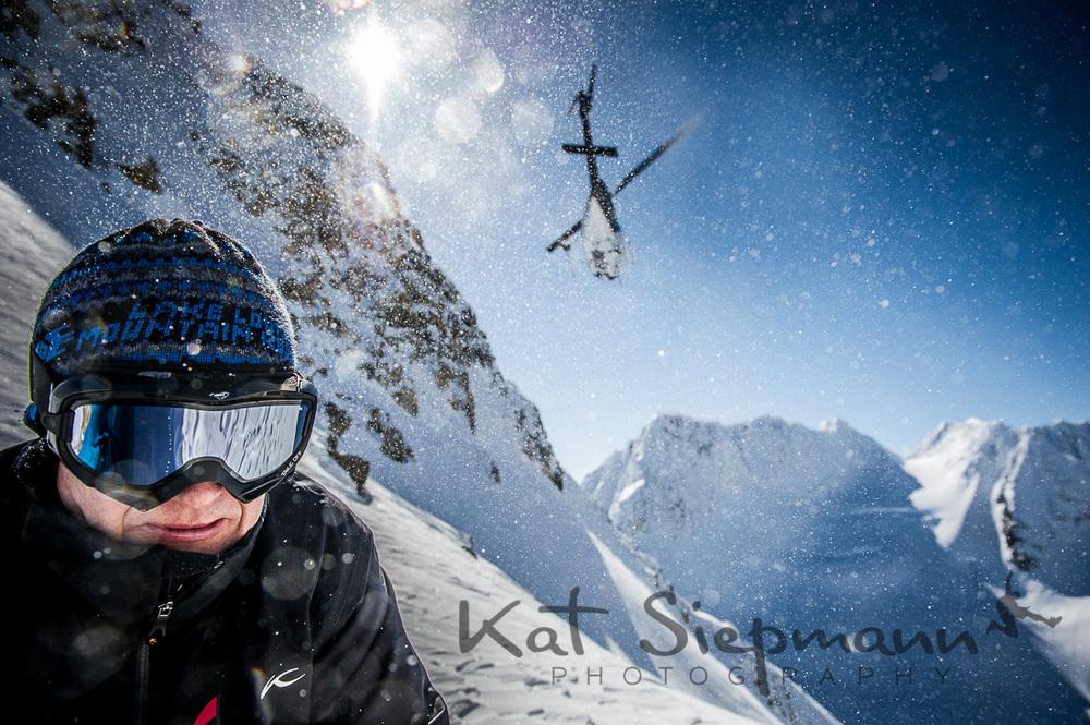 A thrilling Heli Ski drop in the Yukon.