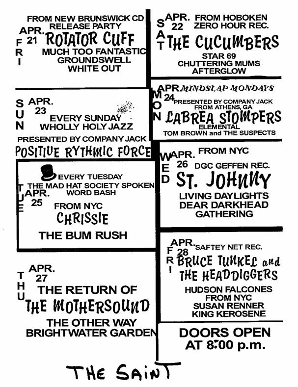 The Saint, Asbury Park, NJ 04/26/95