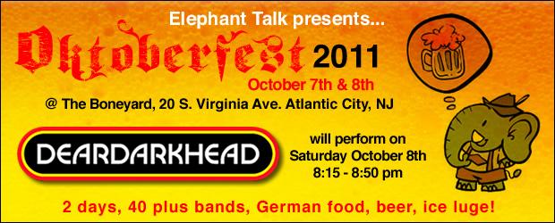 Elephant Talk presents Oktoberfest 2011 at The Boneyard, Atlantic City, NJ 10/08/11