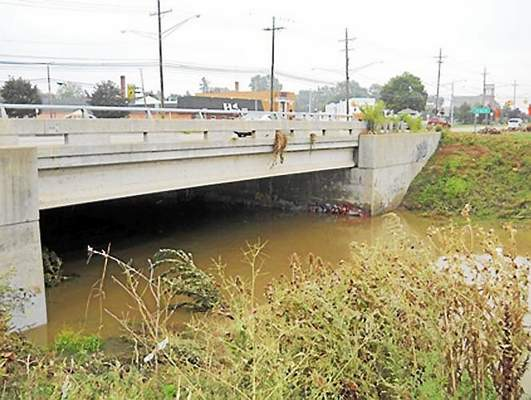 The polluted Red Run Drain in Warren