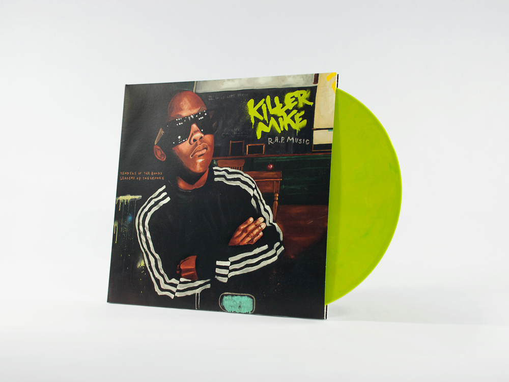 KILLER MIKE - R.A.P. MUSIC /// Art direction, design and typography for vinyl packaging. The album features my own proprietary typography throughout, including a painted logo, tracklist and fully handwritten lyrics on the vinyl sleeves.