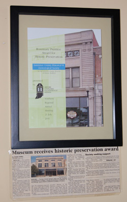 Historic preservation award